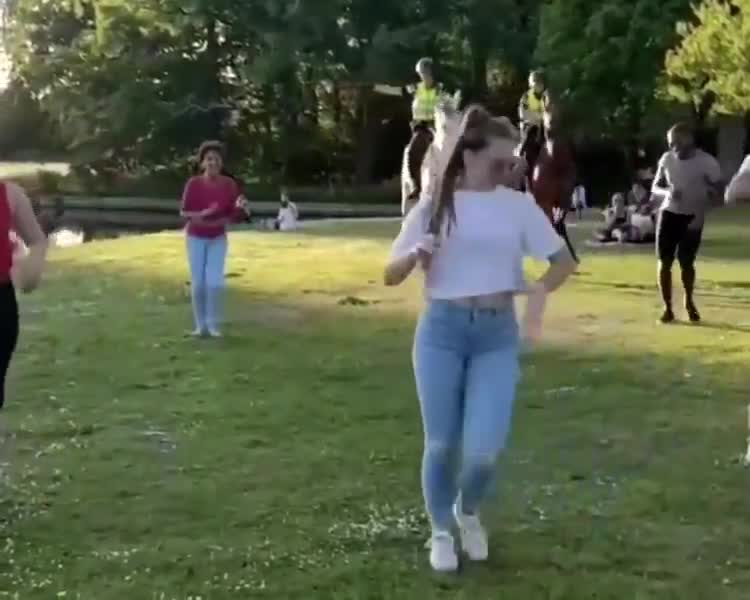 Everyone dance , even the horses